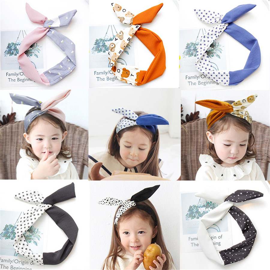 Kids Baby Girl Cute Headscarf Ear Headband Headwear Hair Band Accessories