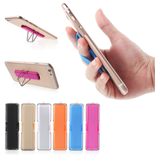 For Apple iPhone Samsung Finger Grip Elastic Band Strap Universal Phone Holder with Stand for Mobile