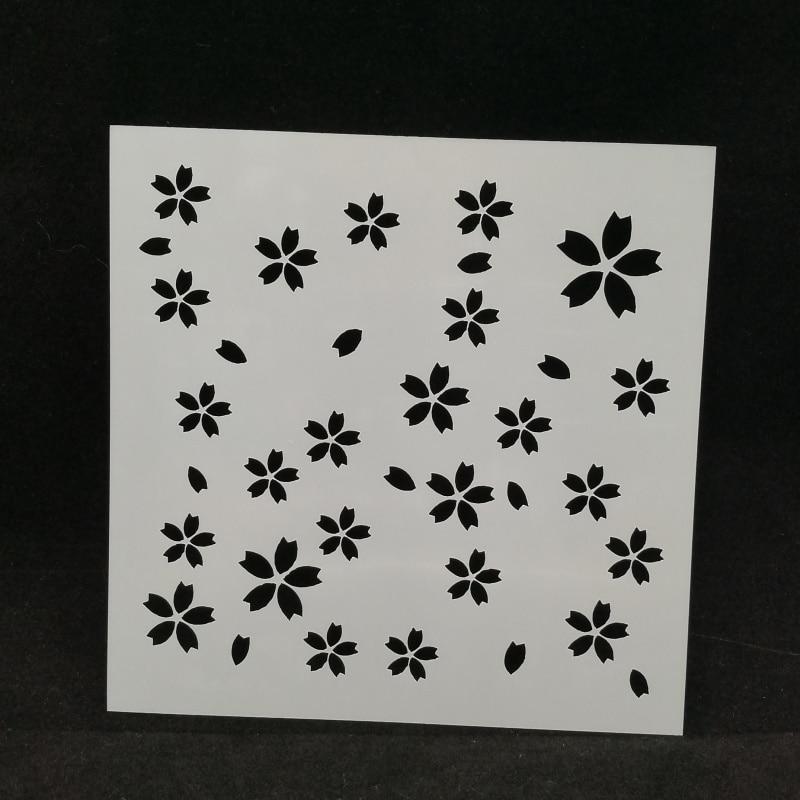 Sakura Layering Stencils Drawing Color Spraying Stencil DIY Scrapbooking/photo Album Decorative Embossing DIY Paper Card Crafts