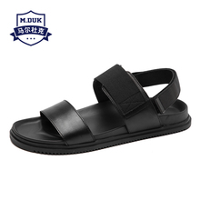 2019 Summer new young mens beach shoes casual sandals fashion trend personality leather Roman
