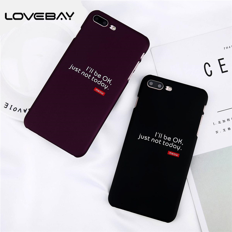 Lovebay Phone Case For iPhone X 8 7 6 6s Plus Fashion Cartoon Red Wine Letter Print Ultra thin Hard PC Cover Cases For iPhone 8