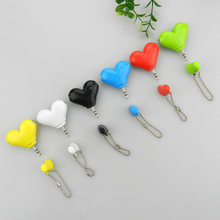 Mini Cute Heart-shaped 3.5mm Double Jack Adapter to Earphone Connector for iPhone 6s MP3 Player Splitter Adapter(China)