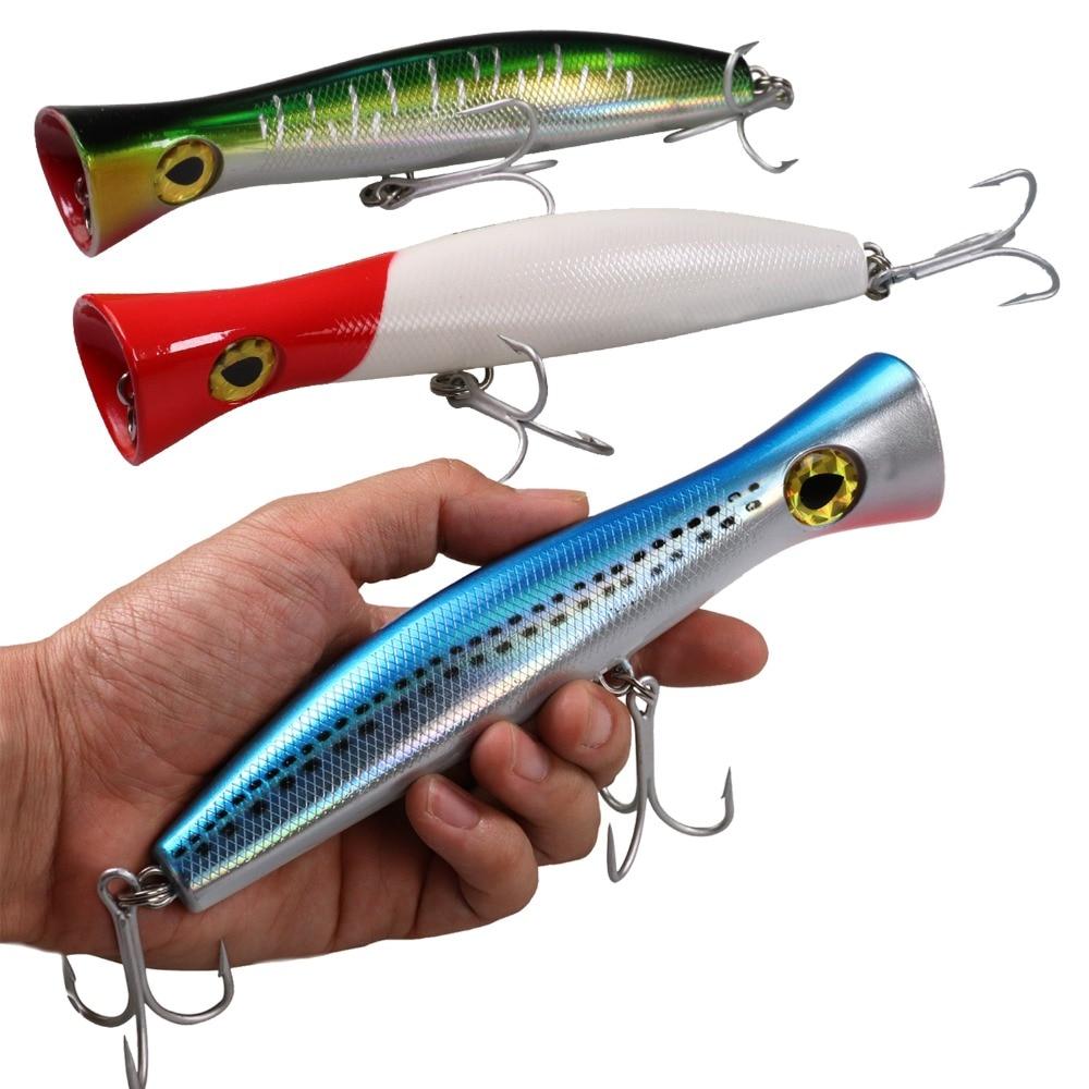 1Pcs 120g 19cm Topwater Popper Fishing Lures Saltwater ...