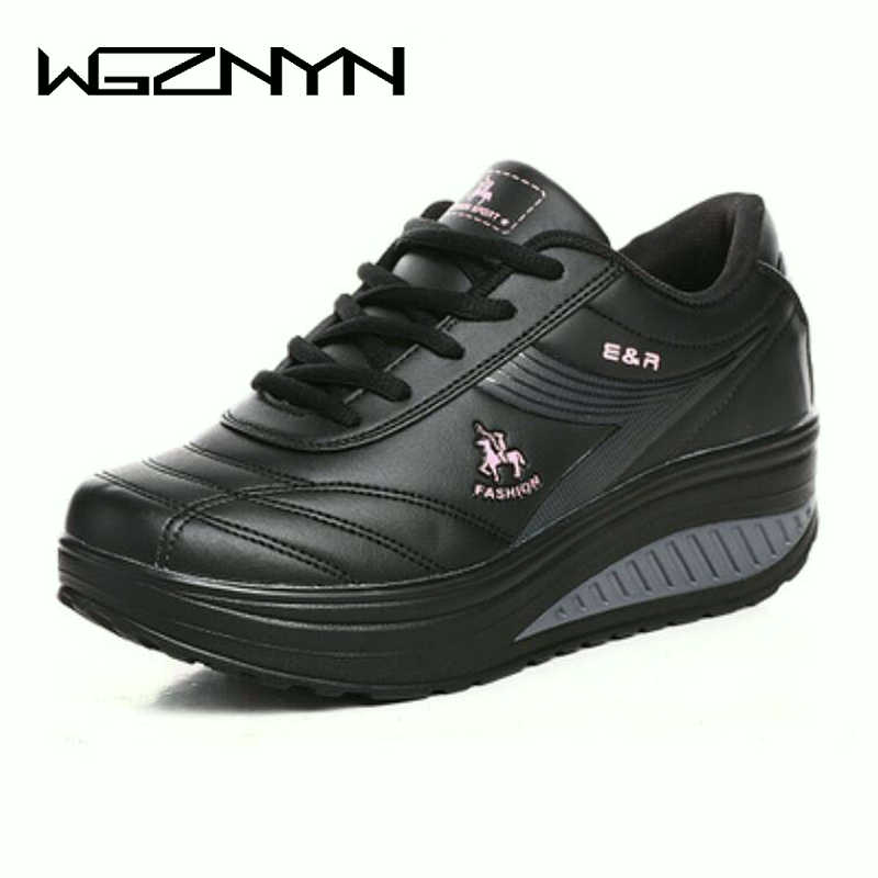 2020 NEW Women Sneakers Wedges Platform Body Shaping Shoes Shape Ups Fitness Shoes Slimming Swing For Female Weightlifting Shoes