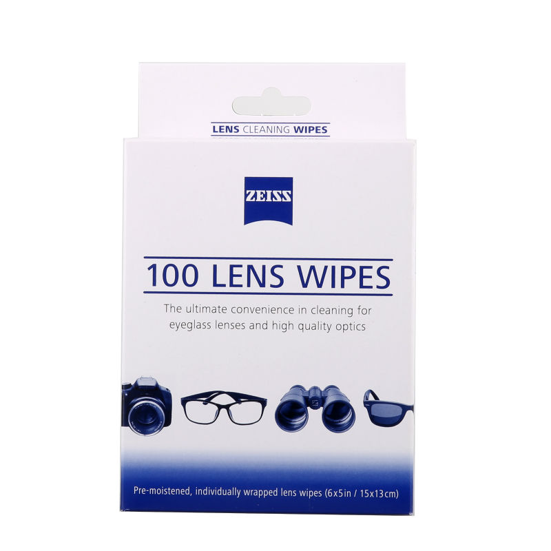 Zeiss Pre-moistened Lens Wipes Cleaning for Eyeglass Lenses Sunglasses Camera Lenses Cell Phone Laptop Lens Clothes 60ct Pack