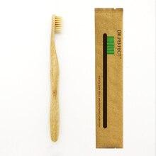 1 шт столб стиль бежевый Бамбук Зубная щетка дерево Новинка бамбук мягкая щетина Capitellum нейлон волокно деревянная ручка