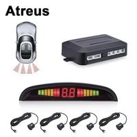 Atreus For VW polo passat b5 b6 Mazda 3 6 cx 5 Toyota corolla Ford focus 2 Car Reversing Radar Parking Sensor LED Display Alert
