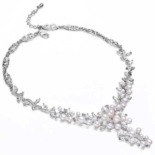RUNZHUQIYUAN 2017 100 natural freshwater pearl choker necklace