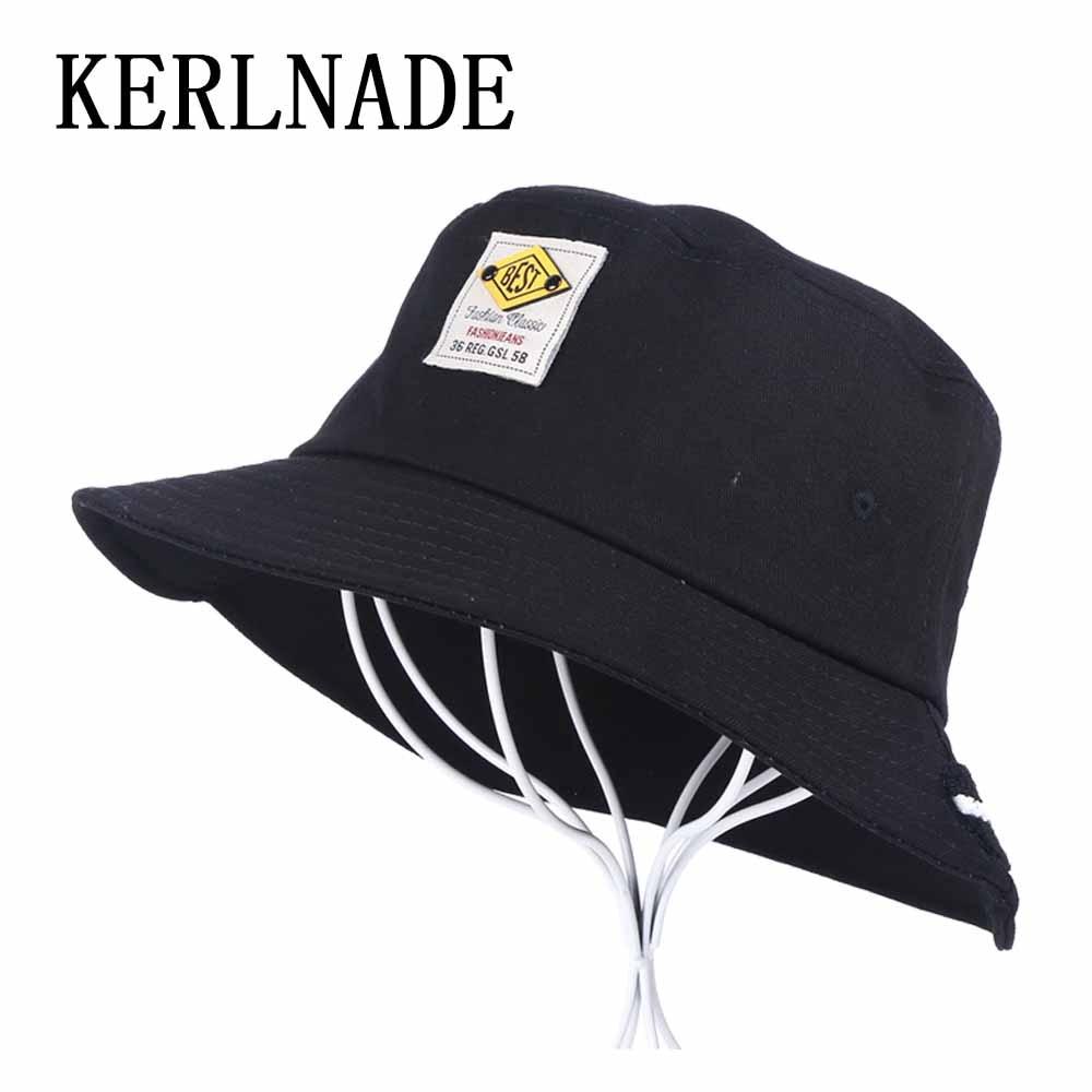 wholesale men s women s sports hat Bucket Hats solid white black simple  logo design spring summer autu winter unisex caps c4e1440542b