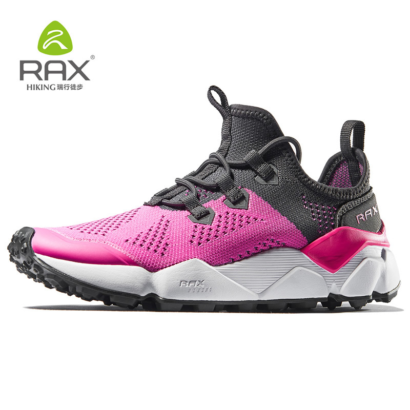 Rax Running Shoes Women Breathable Air Mesh Outdoor Antiskid Running Sneakers Men Lightweight Trekking Shoes 458W