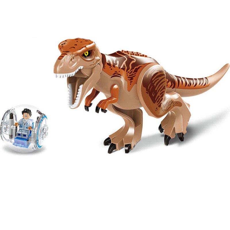 Купить с кэшбэком Jurassic World Dinosaur Building Blocks Baby enlighten Toys Compatible Small Size Blocks for Children Tyrannosaurus Pterosaur