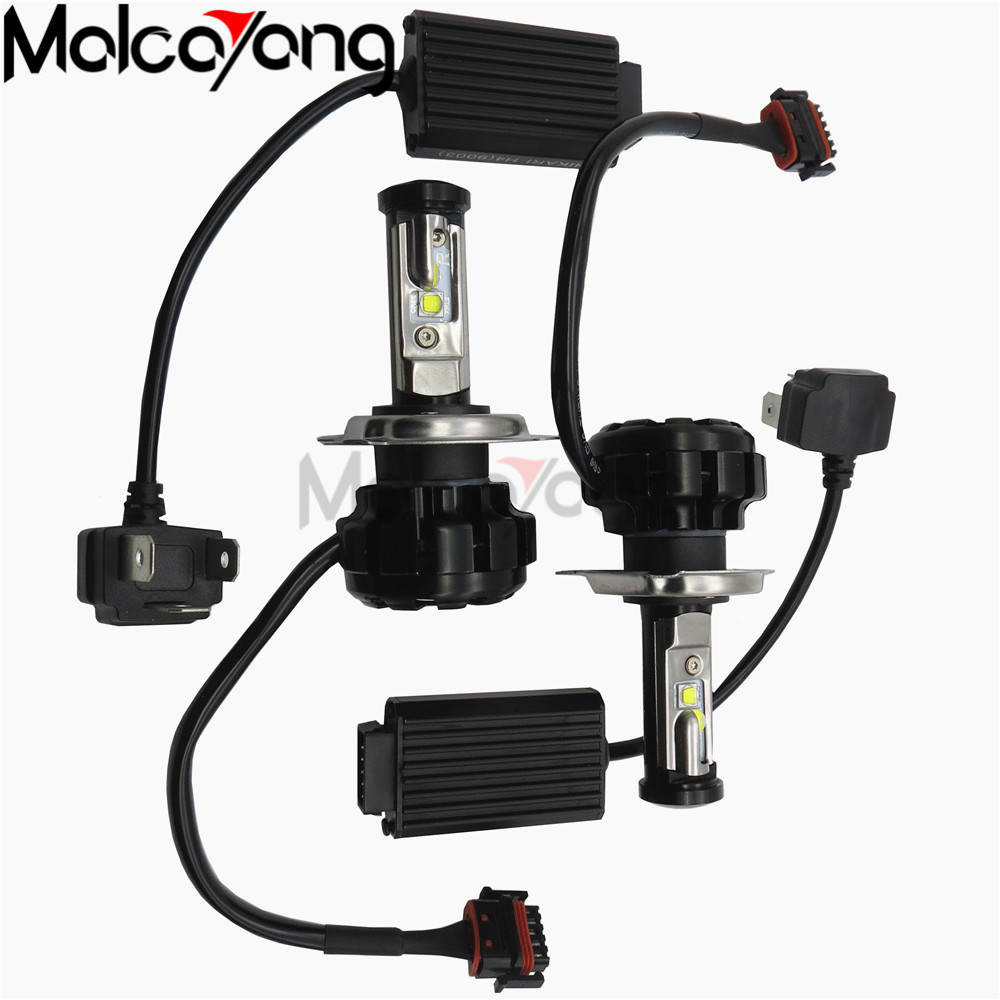 Extra Bright V18 H1 Car Led Headlight Lamp H4 H13 9007 Hi/lo H7 H11 9005 9006 H1 H3 Led Replacement Kit Bright And Translucent In Appearance Car Lights Base