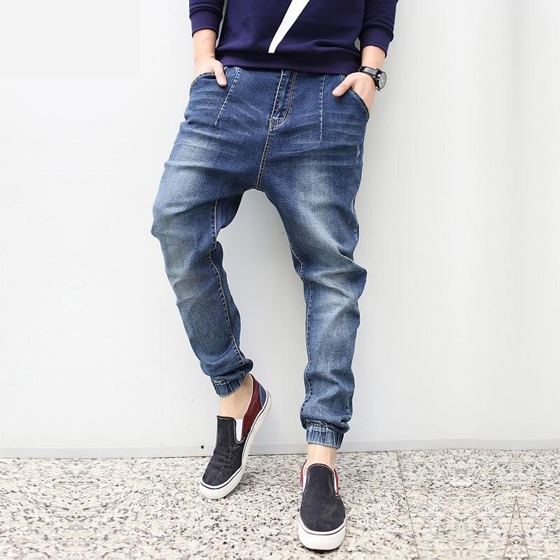Remise pas cher hommes Stretch Jeans lâche Baggy Hip Hop Cargo Jeans hommes pantalons coniques coréen Jeans hommes