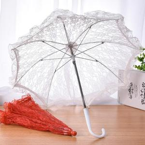 Image 2 - Wedding Flower Girl Lace Umbrella European And American Style Bride Decoration Umbrella Trumpet Photography Props