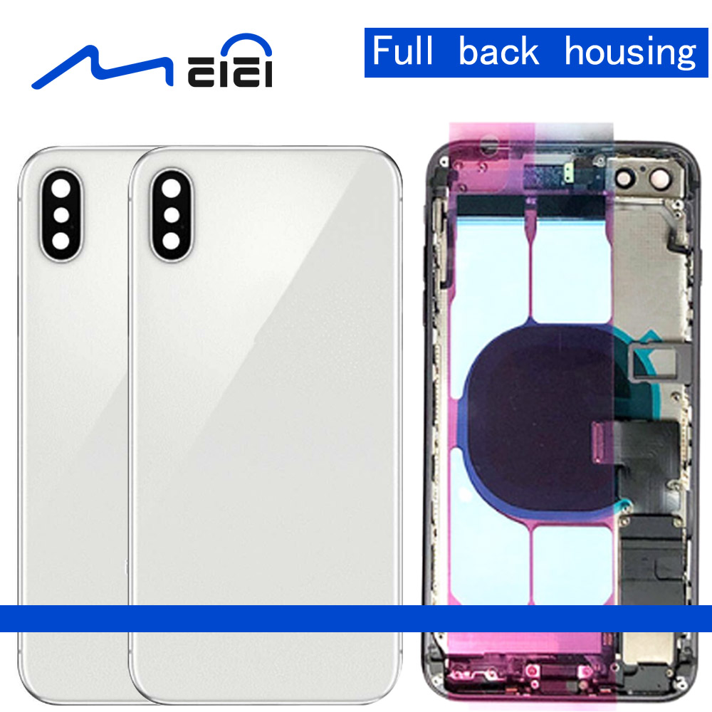 High Quality For iphone 8 8G Plus X Back Middle Frame Chassis Full Housing Assembly Battery Cover with Flex Cable + ToolHigh Quality For iphone 8 8G Plus X Back Middle Frame Chassis Full Housing Assembly Battery Cover with Flex Cable + Tool