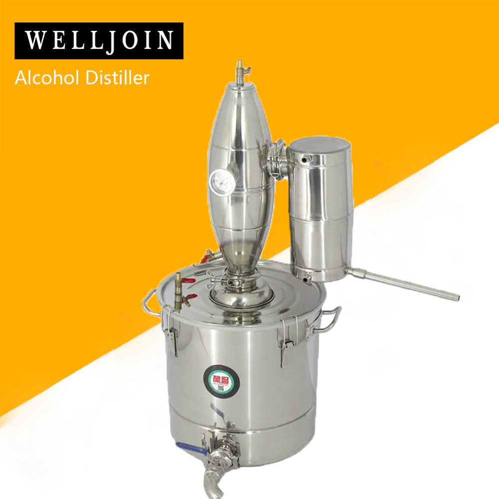 IXAER 20L Alcohol Ethanol Distiller 304 Stainless Steel Home Brew Still Wine Making Tools Boiler Shipping From USA