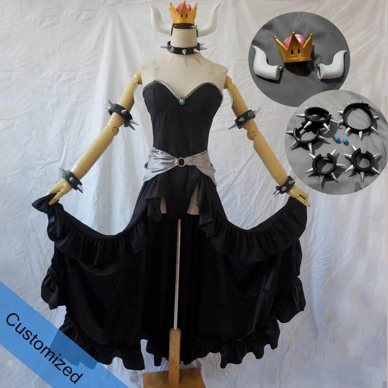 15318 5 De Descuentotraje De Cosplay Bowsette Princesa Bowsette Vestido Negro Personalizado Incluye Accesorios In Trajes De Juego From Novedad Y