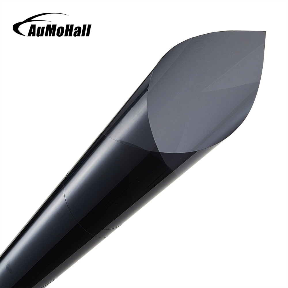 Aumohall 50 300cm black window tint film glass 25 roll 1 for 2 ply window tint film