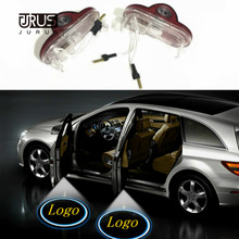 цена на JURUS 2 x LED For Skoda Octavia 2004-2008 Car-Styling Car Door Light Welcome Logo Courtesy Projector Laser Ghost Shadow Lights