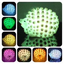Popular LED Hedgehog Night Light Desk Lamp Changeable-color Christmas Present Baby Light LED Bedside Lamp P25