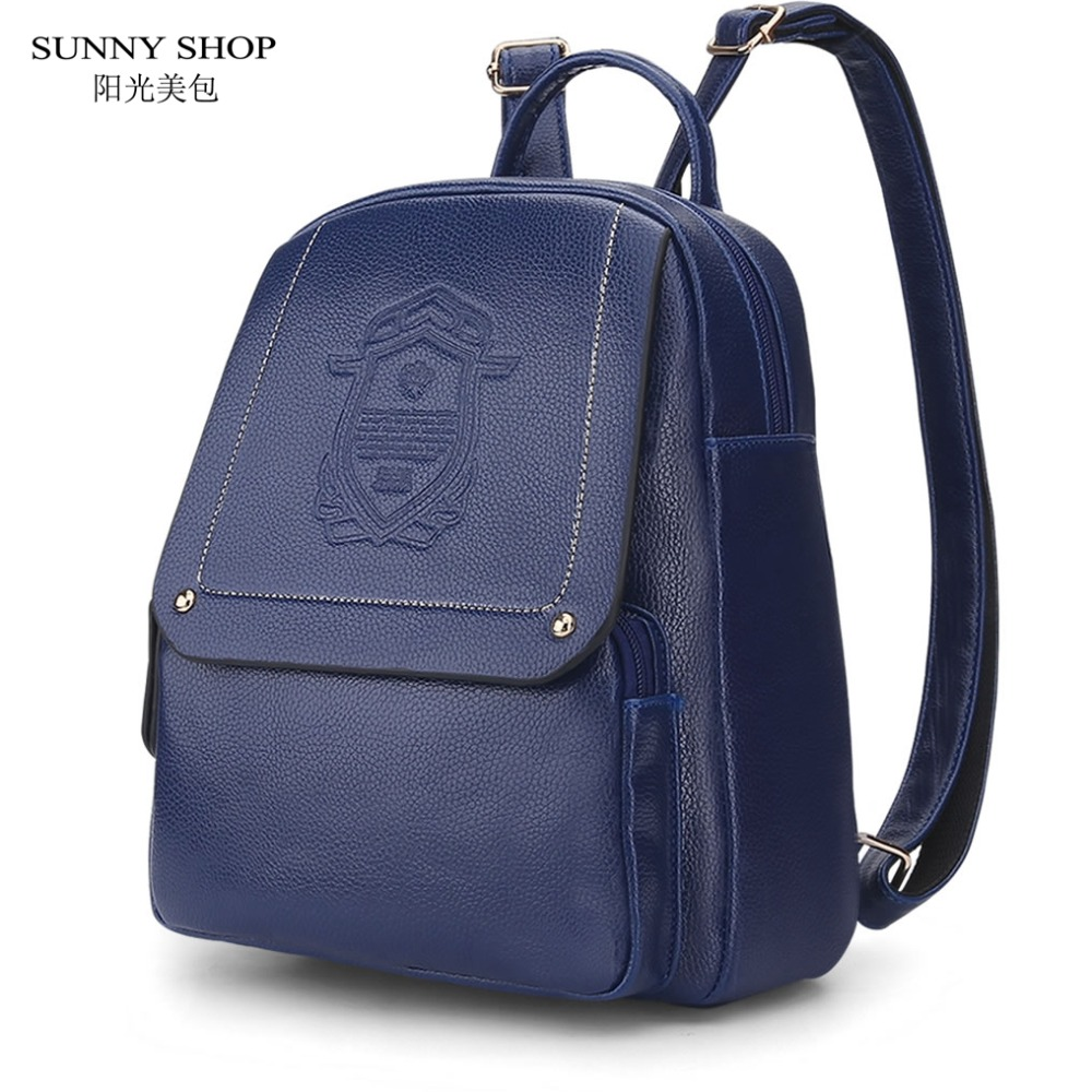 SUNNY SHOP Brand Summber Backpack Women School Bags For Teenagers Girls Leather Fashion Printing