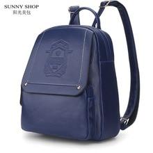 Sunny shop marke summber rucksack frauen schultaschen für jugendliche mädchen hochwertiges leder rucksack fashion printing rucksack
