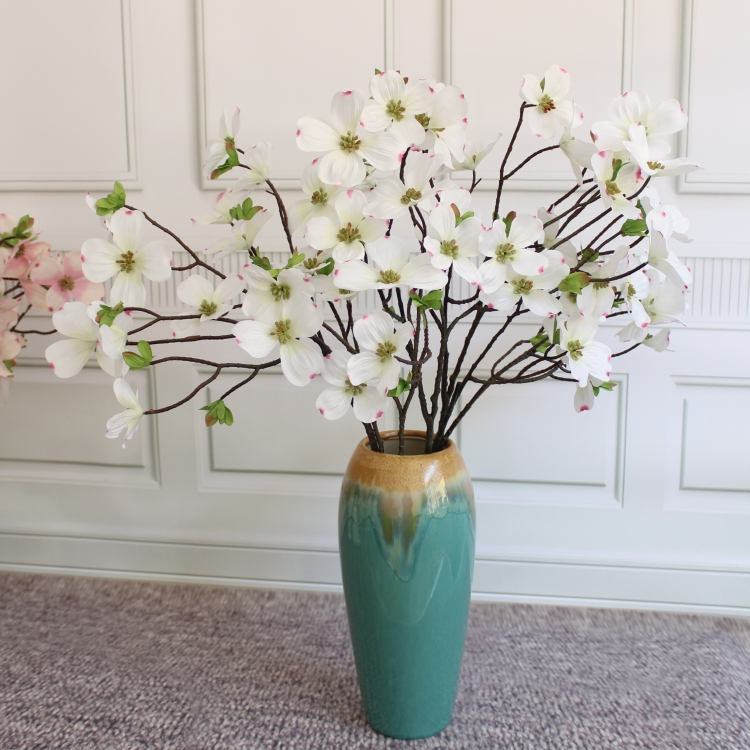 Artificial cornus silk cornel dogwood flower home party christmas artificial cornus silk cornel dogwood flower home party christmas decorative flowers arrangements ornament 10pcs in artificial dried flowers from home mightylinksfo Image collections