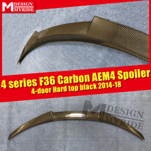 Rear Spoiler Tail M4 Style For BMW F36 4-Door 420i 428i 430i 440i Carbon Fiber Rear Trunk Spoiler Tail Wing car styling 2013-18 стоимость