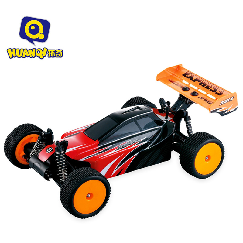 High Speed RC Car 1:10 Scale 2.4G 40km/h Rechargeable Remote Control RC Off Road Car Toy Brushed Motor Cars Vehicles HUANQI 735 2017 new arrival a333 1 12 2wd 35km h high speed off road rc car with 390 brushed motor dirt bike toys 10 mins play time