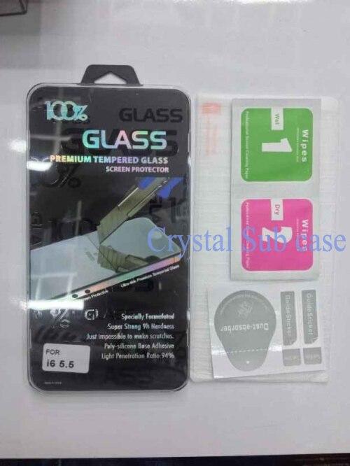imágenes para 0.3mm 2.5d 9 h templado superior de cristal protector de pantalla para iphone 6 paquete al por menor dhl fedex, 1000 unids/lote