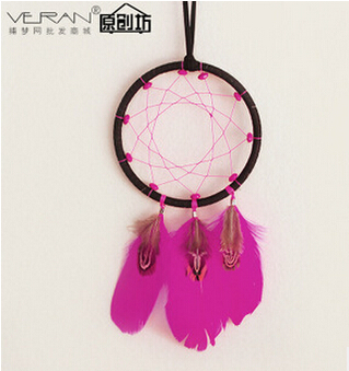 New 2015 high quality bohemian style wooden bead dream catcher car ornaments home decor gift ornaments  campanula hot sale