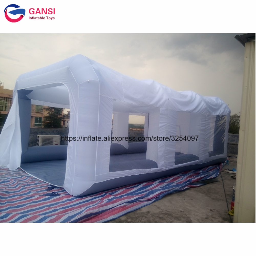 Cabine gonflable de peinture de voiture de cabine de jet utilisée par 7*4*2.5 m, cabine gonflable libre de peinture de jet de voiture de ventilateur à vendre