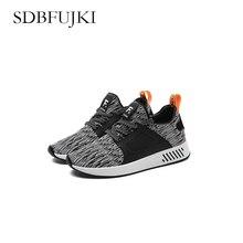 Lente En Zomer Mode Heren Casual Schoenen Lace-Up Ademende Sneakers Outdoor Mesh Breathable Lightweight Running Shoes SDBFUJKI