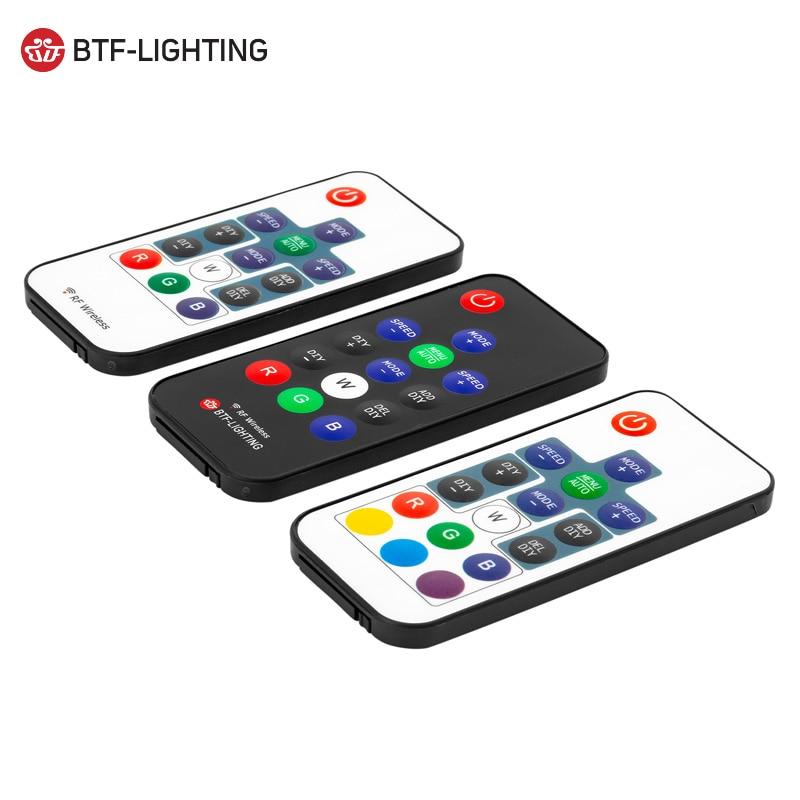WS2811/WS2812B Led RGB Pixel Controller DC5V-24V 14key/17key Remote RF Wireless Mini Controller 3pin Digital Strip Light Tape