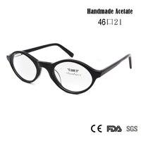 New High Quality Retro Vintage Nerd Glasses Clear Lens Brand Designer Men Women Handmade Acetate Eyeglasses