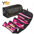 Y-FLY Nylon Waterproof Makeup Bag Beutician Cosmetic Cases Multi Lady Cosmetic Bags Travel Bag Toiletries Ladies Bolsas HB021-1