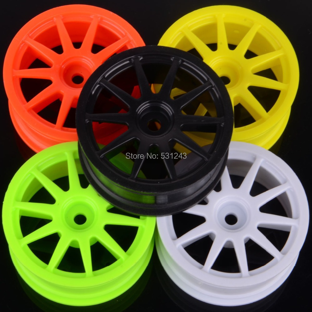 buy 1 10 scale rc model car plastic 10 spoke wheel rims fit 1 9 tires for hpi. Black Bedroom Furniture Sets. Home Design Ideas