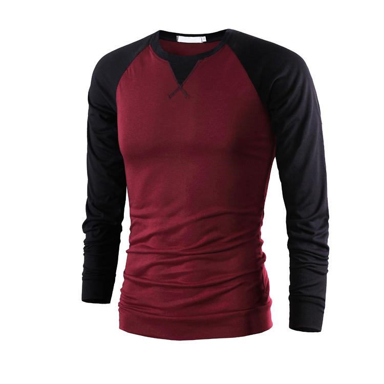90d83f029 Hot Sale 2016 New Fashion Brand O Neck Trend Long Sleeve T Shirts Men Slim  Fit Cotton High quality Casual Men T Shirt M XXL-in T-Shirts from Men's  Clothing ...