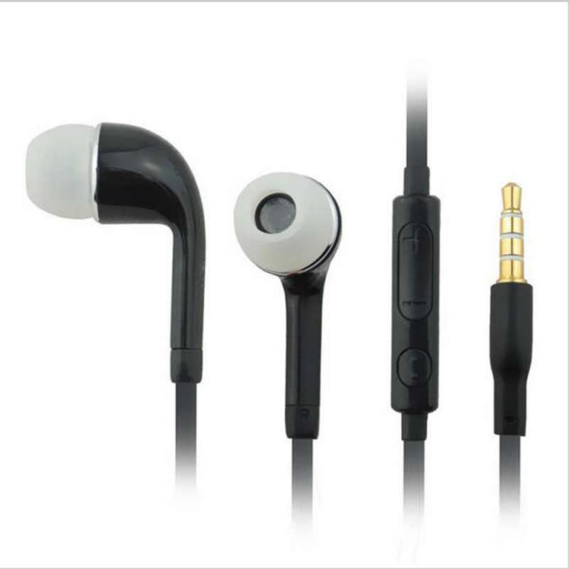 Słuchawki słuchawki Stereo Sport fone de ouvido 3.5mm douszne słuchawki przewodowe słuchawki do Samsunga Galaxy S5/4/3 Tab uwaga 4 3 2