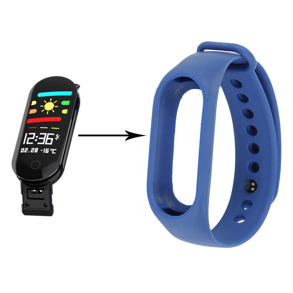 Pulseira alternativa de silicone colorido para m3s pulseira inteligente substituição cinto de banda de pulso