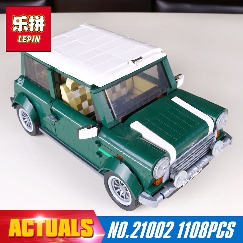 Lepin 21002 technic series 1108Pcs car Model Building Kits Blocks Bricks Toys Compatible With Hands-on Children Gifts 10242 free shipping lepin 21002 technic series mini cooper model building kits blocks bricks toys compatible with10242