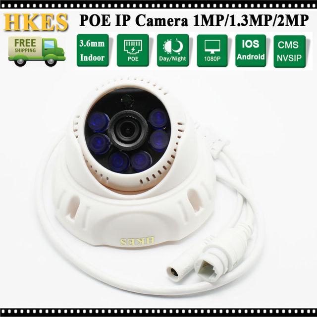 HD 960 P POE 1MP Câmera IP 1280*720 P visão Nocturna do IR CCTV Câmera de Vídeo com 3.6mm lente