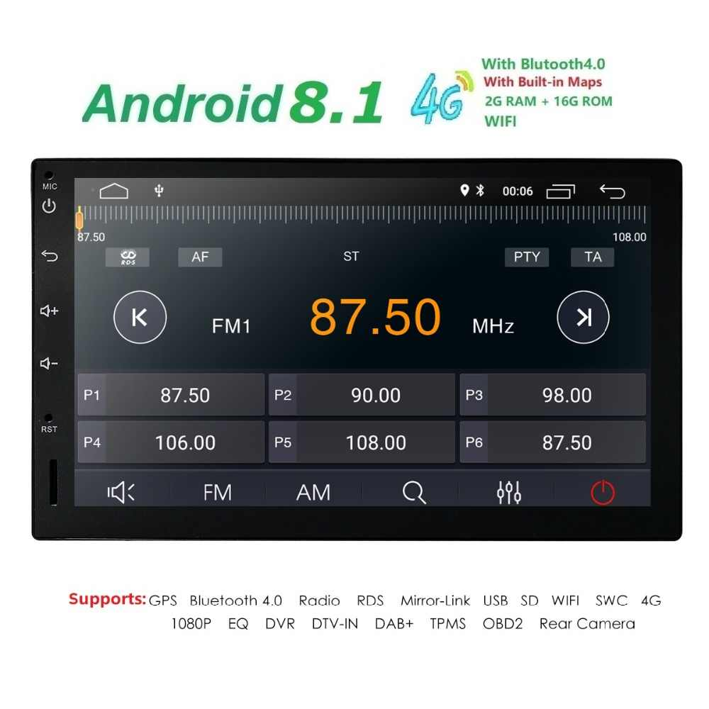 db3f6176ee949 ... 2G RAM Android 8.1 Auto Radio Quad Core 7Inch 2DIN Universal Car NO DVD  player GPS ...