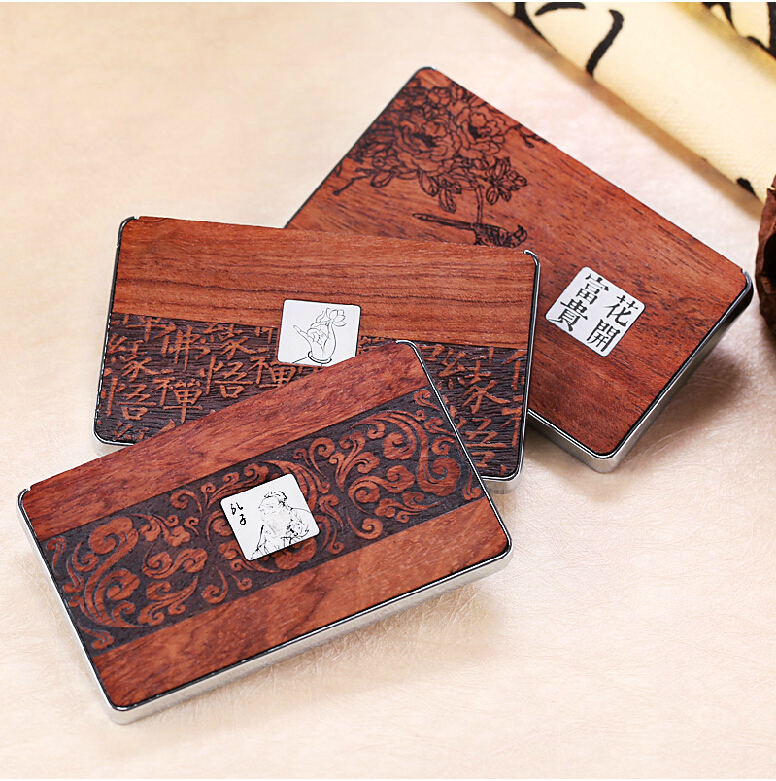 Exhibition gifts chinese style high grade wooden business card exhibition gifts chinese style high grade wooden business card holder free engraved newest beautiful packing name card box in card id holders from luggage reheart Gallery