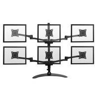 Aluminum Alloy 13 24 LCD LED 6Screen Monitor Holder Mount Arm Bracket Full Motion Ball Joint