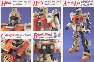Image 4 - Bandai Gundam MG 1/100 RGM 79[G] GM GROUND TYPE Mobile Suit Action Figures Assemble Model Kits toy