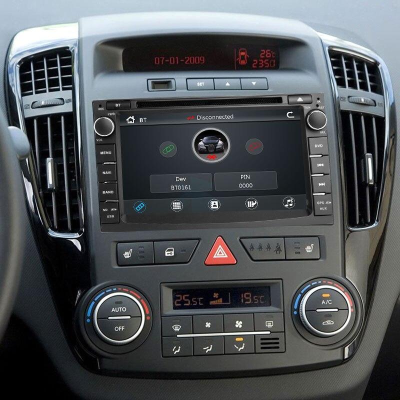 2 din Radio samochodowe samochodowy odtwarzacz DVD odtwarzacz multimedialny dla Kia Ceed 2010 2011 2012 Venga GPS Glonass nawigacja Audio Stereo jednostka główna wideo