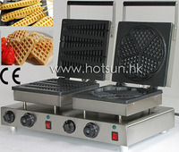 Commercial Use Non Stick 110v 220v Electric Dual Belgian Liege Waffle And Lolly Waffle Baker Machine