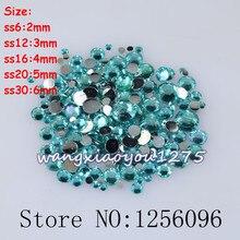 100-1000pcs/bag,Nail Art,SS6/12/16/20/30,Acid blue resin flatback crystal rhinestone,Not Hotfix,Use glue,phone case,nails,DIY