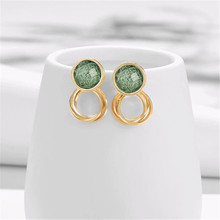 Retro earrings  ladies fashion joker contracted geometric shape Delicate and pretty girl wholesale